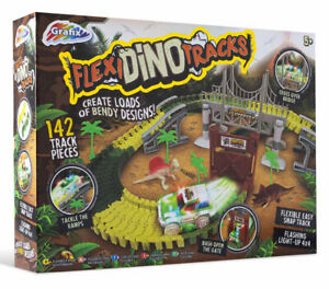 150Pc Dino Tracks Flexible Car Dinosaur Racetrack Kids Boys Xmas Toy Gift