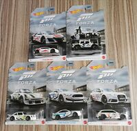HOT WHEELS 2020 FORZA MOTORSPORT 5 LOT SET AUDI ACURA PORSCHE LAND ROVER SHELBY