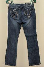 Grace In LA Jeans Size 3 26x32 Embellished Distressed Denim Boot Cut Abrasions