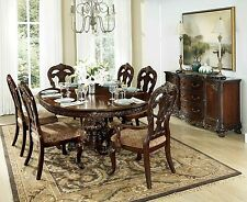 Exquisite Round Oval Formal Dining Table 6 Chairs Room Furniture Set