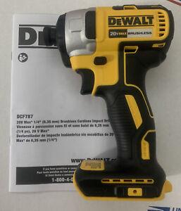 """Dewalt DCF787B 1/4"""" Hex 20V Brushless Impact Driver New"""
