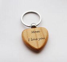 CUORE Portachiavi-MAMMA I LOVE YOU DESIGN IN LEGNO PORTACHIAVI-le Madri Giorno Compleanno