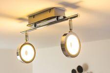 2 spots sur rail LED Plafonnier 2 x 6 Watt Lampe suspension Lustre Chrome 121445