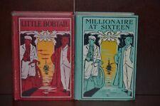 Millionaire at Sixteen & Little Bobtail American Boys Series- Lee & Shepard 1892