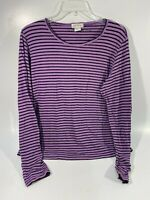 Orvis Women's Long Sleeve Shirt | Black / Purple Striped | Sz M