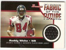 RODDY WHITE ROOKIE JERSEY 2005 BOWMAN FABRIC OF THE FUTURE ATLANTA FALCONS