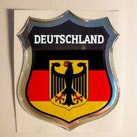 Aufkleber Deutschland Kfz-Aufkleber Deutschland Emblem Flagge 3D Fahne