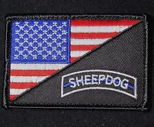 USA AMERICAN FLAG SHEEPDOG TACTICAL US ARMY MORALE BADGE FULL COLOR VELCRO PATCH