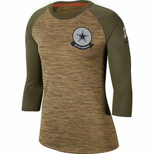 Dallas Cowboys Nike Women's 2019 Salute to Service Legend 3/4 Sleeve T-Shirt