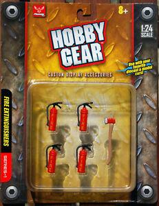 Hobby Gear 17017  Fire Extinguishers Feuerlöscher Axt Schaumlöscher 1:24