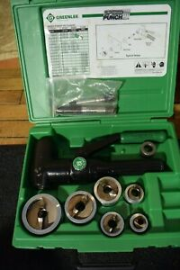 """Greenee Hydraulic Knockout Set 7904SB Quick Draw Stainless Steel 1/2"""" through 2"""""""