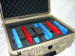 New Custom 6 pistol handgun gun foam insert kit fits your Pelican™  1550 case