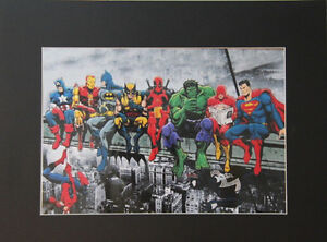 Marvel Superheroes 8x10 matted Art Print Printed Poster Decor picture Artworks