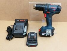 Bosch DDB181 18V Drill Driver + 2 Batteries + Charger Used