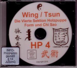 DVD  Wing Tsun 4. Sektion Holzpuppe Form und Chi Sao Muk Yan Jong