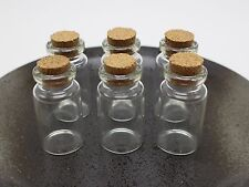10 Empty Glass Cork Bottles Pendant Vials Wish Bottles Charms Clear 22X40mm 7ml