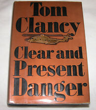 Clear and Present Danger by Tom Clancy 1989, Hardcover U.S.A