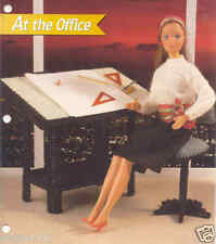 """FASHION DOLL """"AT THE OFFICE""""  ~ plastic canvas pattern"""