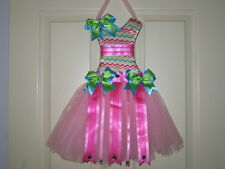 "NEW ""Multi-Colored CHEVRON"" Hair Bow Holder Tutu Dress Ribbon Hairbow Display"