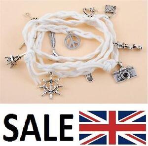 NEW Hemp Heart Bag Weave Summer Bracelet Wristband Charms for Women 34 inch UK