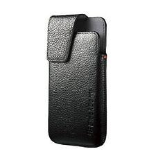 NIB Genuine BlackBerry ACC-49273-301 Z10 Leather Swivel Clip Holster Case Pouch