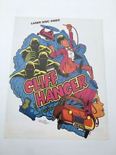 Original Flyer Stern Cliff Hanger Laser Disc Arcade Game Borne Arcade 1980