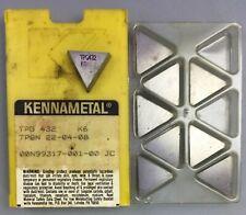 9 Pcs Kennametal Tpg 432 Tpgn 22 04 08 Carbide Inserts K6 Machinist