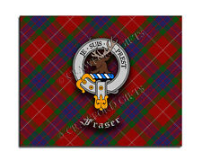 Fraser Clan Mouse Pad - Scottish Design Mat - High Quality - Tartan