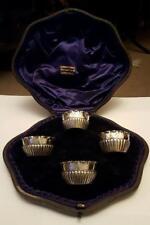 Antique Cased Solid Silver Salts Hallmarked London 1888 1889