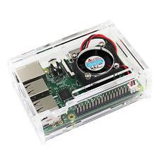Kit for Raspberry Pi 3 Model B + Clear Box Case Transparent Enclosure Box ESUS