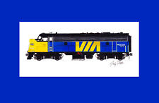 """VIA Rail FP9 #6309 11""""x17"""" Matted Print Andy Fletcher signed"""