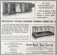 ANTIQUE 1910 AD(E25)~GRAND RAPIDS SHOW CASE CO. CLOTHING DISPLAY CASES