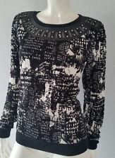 MAISON SCOTCH Sweatshirt Shirt Rundhals black schwarz Gr. 1/36**NEU