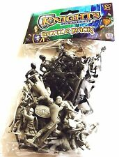 2 x Plastic Toy Knights and Warriors Army Military War Games-30 Pack
