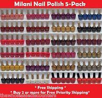 Milani Nail Lacquer Polish 5 Pack Pick a Color 24 Colors 0.45 FL OZ Each J15 New