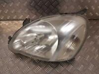 2005 TOYOTA YARIS Left Passenger N/S Headlamp Headlight Halogen