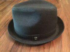 COAL Headwear Seattle Sz M Fedora Hat Wool-Rayon Grey Satin Lined