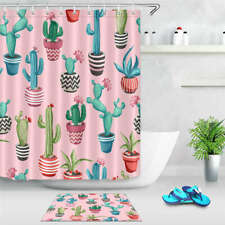 Potted Ball Waterproof Bathroom Polyester Shower Curtain Liner Water Resistant