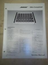 Bose Service Manual~XM-6 Extramixer~Original~Repair