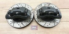 JAGUAR S TYPE R V8 SUPERCHARGED FRONT BRAKE CALIPERS & DRILLED / GROOVED DISCS