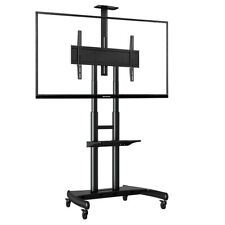 """Heavy-Duty Mobile Cart TV Stand AVA1800-70-1P VESA 55""""- 80"""" screens up to 90kg"""