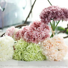 1 Bouquet 5 Heads Artificial Peony Silk Flowers Bridal Hydrangea Wedding Decor