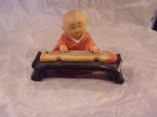 Little Shaolin Monk Playing Guqin Figurine Figure
