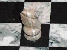 Échecs Chevalier Fauve, Blanc & Gris 5.4cm Onyx, Marbre Pièce de Rechange