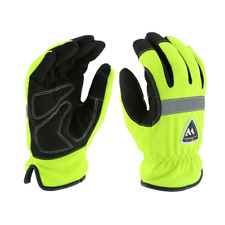 Hi Viz Insulated Waterproof Work Gloves Hi Vis Green Sizes Small 2xl