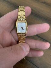 Sonata Woman's Watch Gold Tone 8055ya NICE