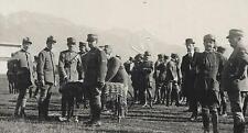 WW1 WWI FOTO REGIA AERONAUTICA CAMPO DI VOLO PREMIAZIONE AL VALORE MILITARE