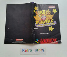 Super Nintendo SNES Kirby's Fun Park Notice / Instruction Manual - NOE