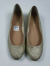 American Eagle Flat Ballerina Shoes From Payless Girl Kids  Gold Glitter Size 6