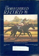 1983 Thoroughbred Record Magazine: Try Something Special Wins Spinster/Turf